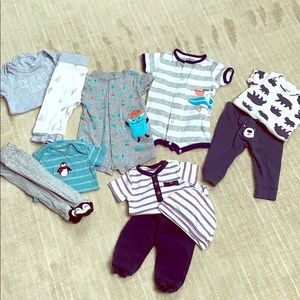 Other - 11 piece lot 0-3 mos